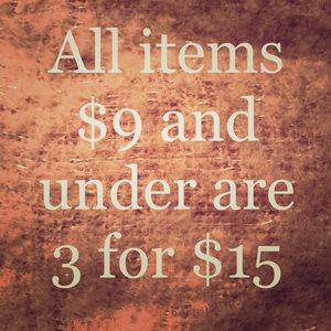 Tops - $9 and under = 3 for $15
